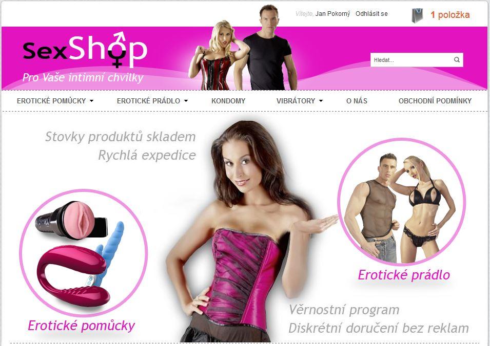 e-shop napojený na sexshop-sex.cz
